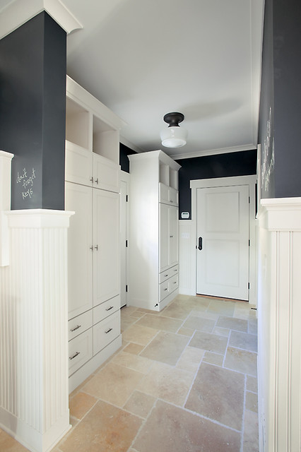 Back Entry Lockers transitional-hall