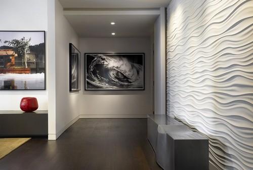 contemporary hall Panele 3D   trójwymiarowe dekoracje