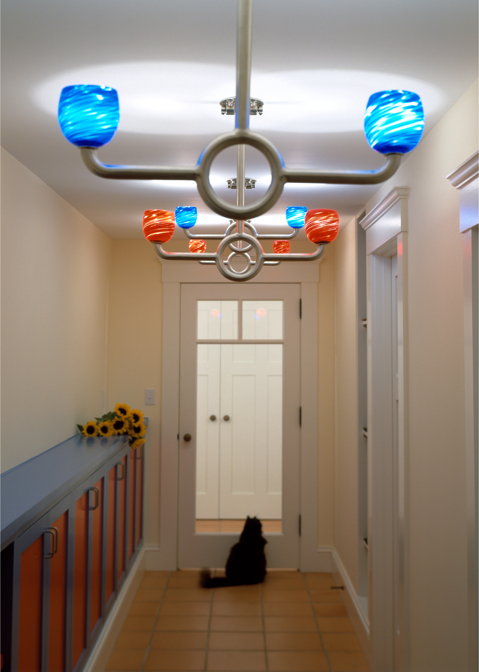 Swing-on lights for fun in the hall