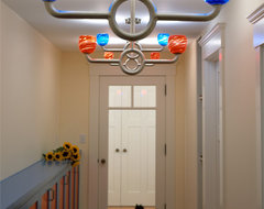 Swing-on lights for fun in the hall contemporary-hall