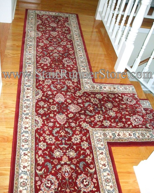 T Landing Or Hallway Stair Runner Traditional Hall