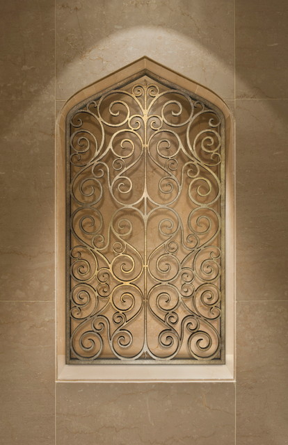 Tableaux faux iron grilles wall decor and contemporary for Architectural wall decor