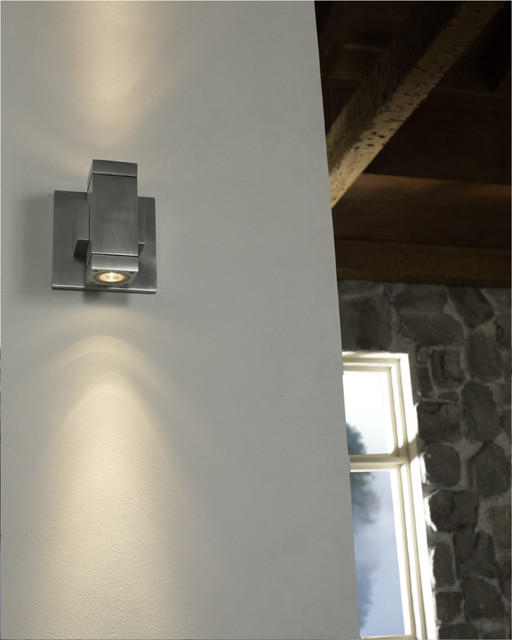 Taos SquareLED Wall Sconce in Hallway - Contemporary - Hall - chicago - by Lightology