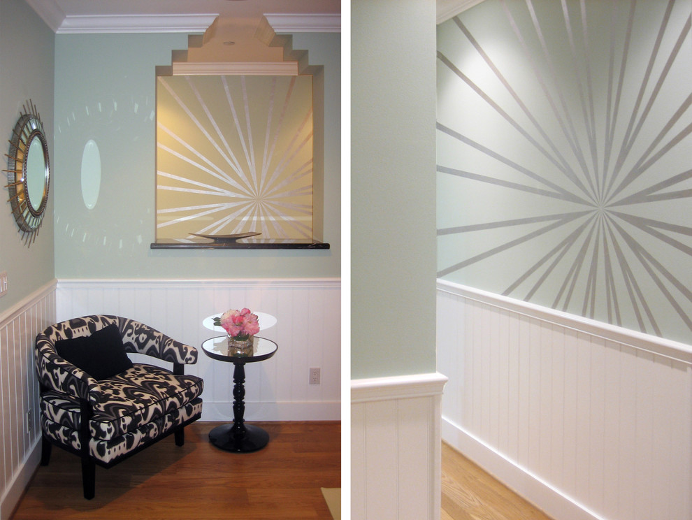 Example of a transitional hallway design in Other
