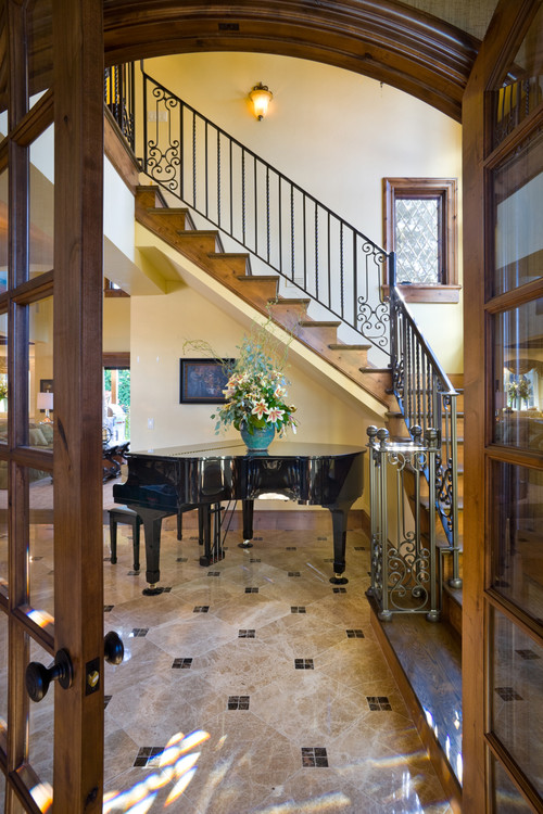 Entrance in this beautiful award-winning European Manor home