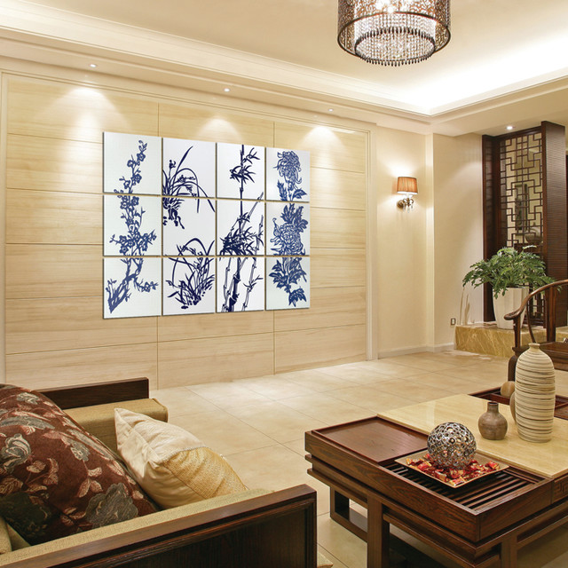 Theme Wall Tile Modern Hall Other Metro By China