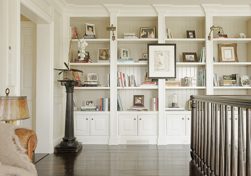 I love everything about these built in bookcases. Beautiful work! Can you tell me a little bit ...