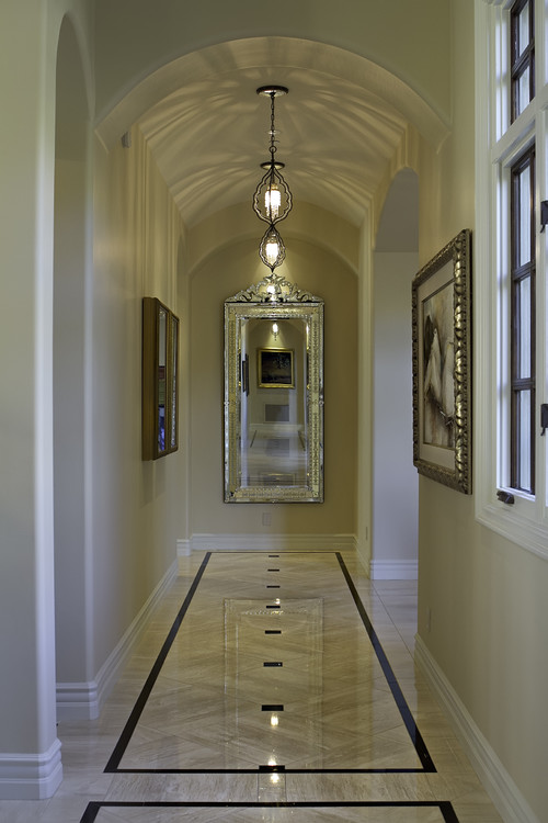 Charming hallway mirror ideas for End of hallway ideas
