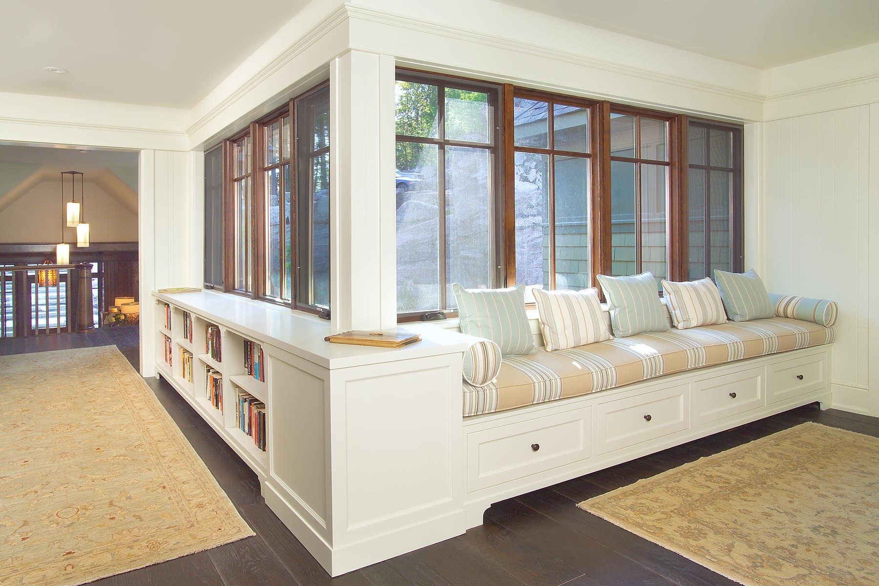 Bookcase With Bench Seat Houzz