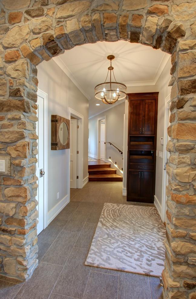 Example of a classic hallway design in Columbus