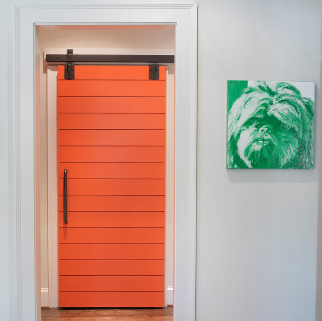 Ranch Remodel Slider Door to Laundry Room eclectic hall