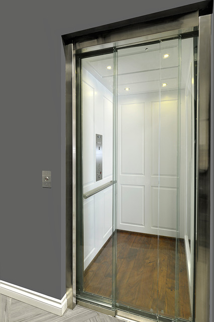 Home Elevator With Glass Doors Transitional Hall Toronto By