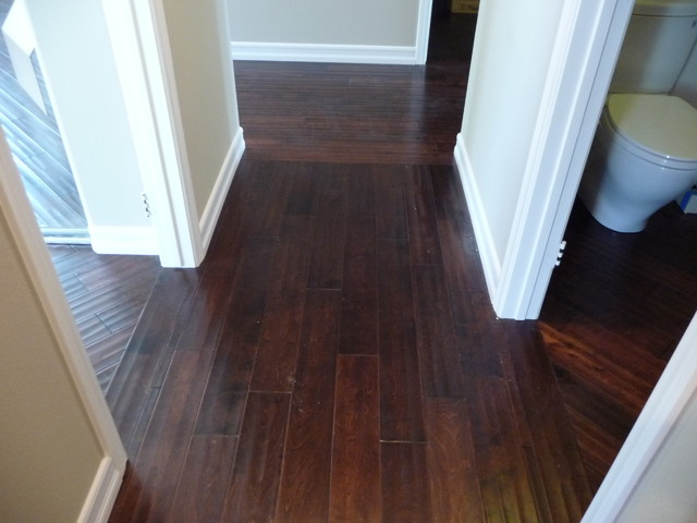 Hardwood Flooring Dealers U0026 Installers. Transitions And Direction Changes  Contemporary Hall
