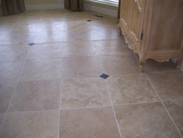 Comtravertine Kitchen Floor : travertine flooring - Contemporary - Kitchen - kansas city - by custom ...