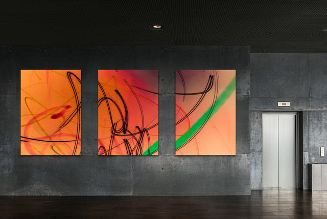 Triptych Urban Abstract Art - Industrial