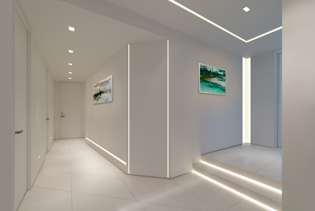 TruLine .5 LED, Reveal LED, Auroras & Verge LED Lighting by Pure Lighting - Contemporary - Hall ...