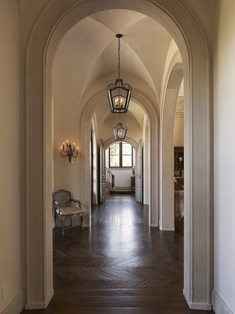 Tuscan Villa mediterranean-hall