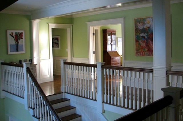 Two Story Foyer Second Floor Hallway Transitional Hall New York By Kathleen Cragan