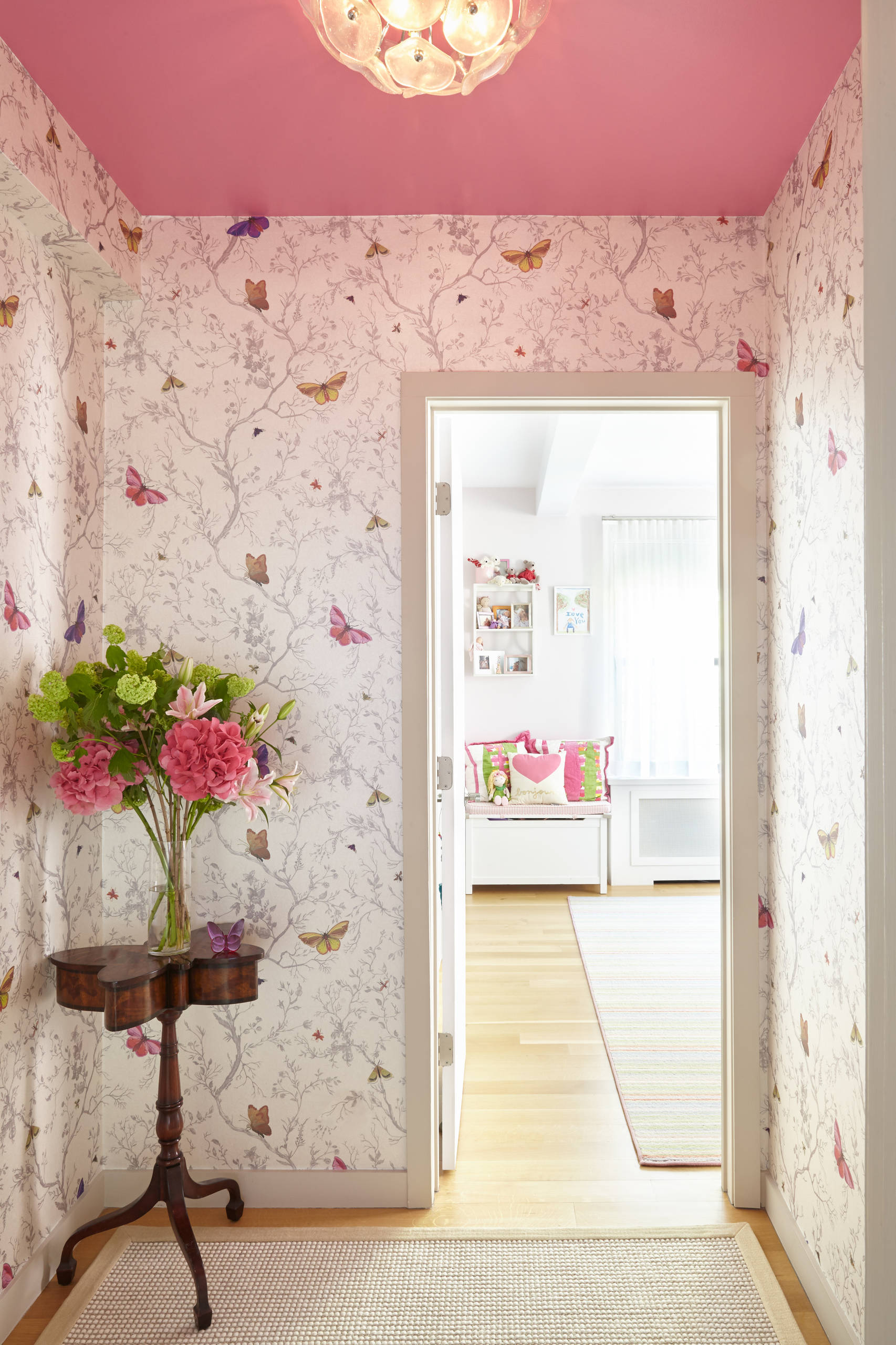 Pareti A Righe Shabby Chic 75 beautiful mid-sized shabby-chic style hallway pictures