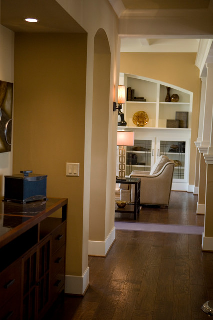 Upscale Arts & crafts inspired Home traditional-hall