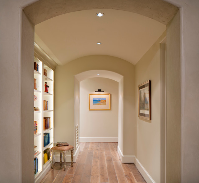 Upstairs Hallway With Built Ins Contemporary Hall