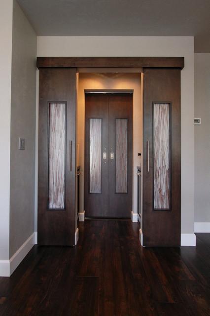 urban modern double custom barn doors