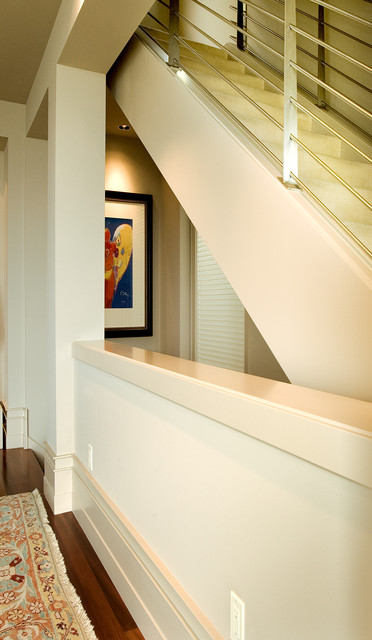 Urban townhome contemporary-hall