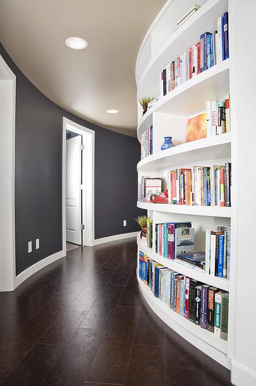 librero empotrado en pared o pared librero