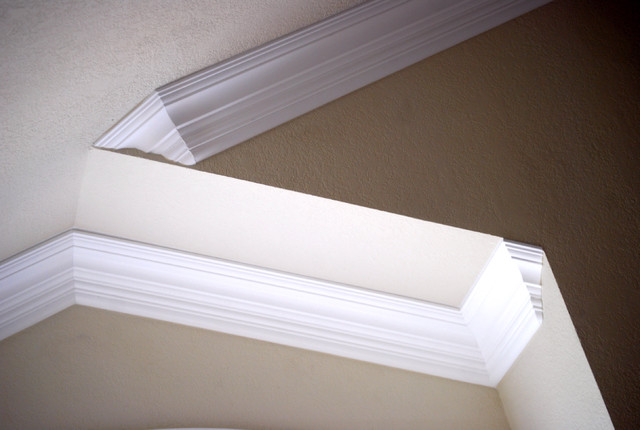 vaulted crown moulding, crown installation - Hall - san diego - by ...