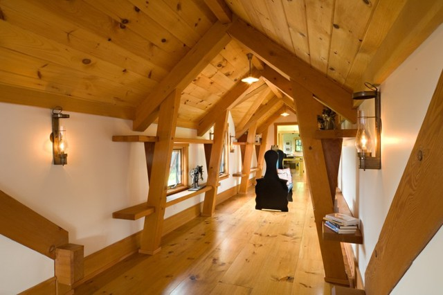 Vermont Timber Frame Residence Eclectic Hall Other