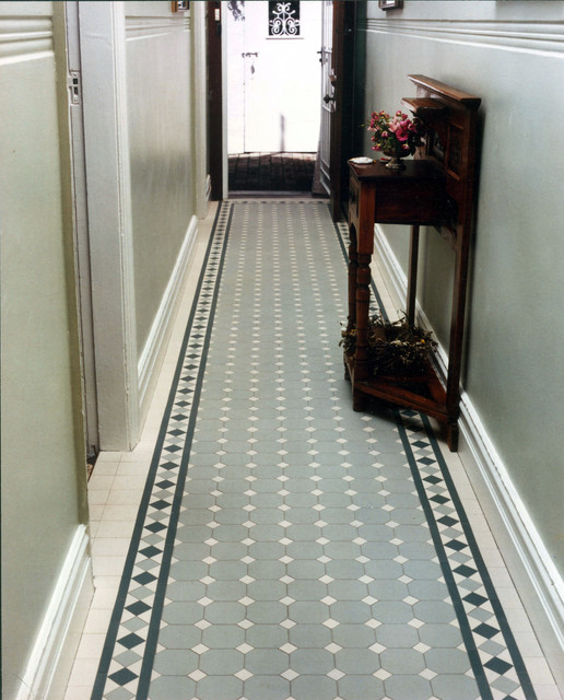 "Victorian Hallway: Victorian/Edwardian""'Norwood"" Tile Hallway By WInckelmans"