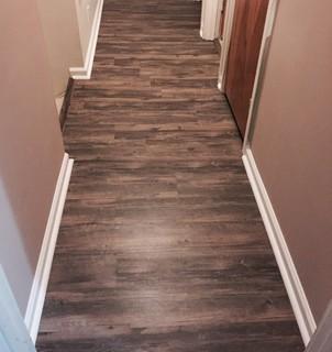 Vinyl Plank Flooring And Trim Quarter Round Installed