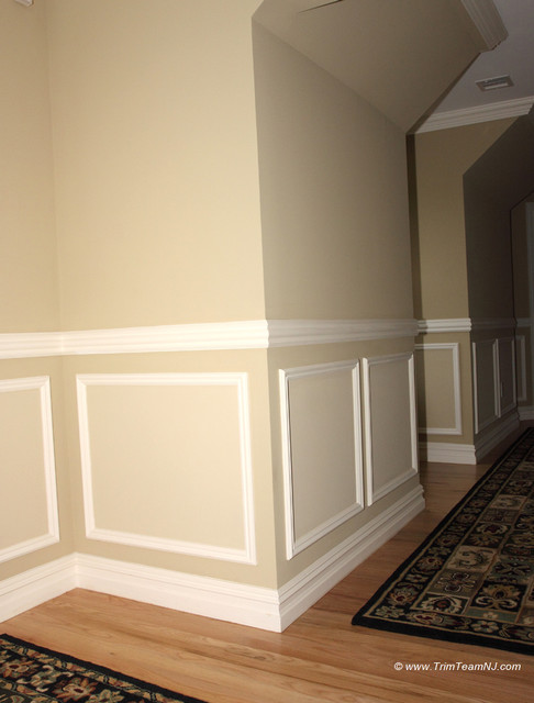 Wainscot and picture frames traditional hall by trim for Dining room painting ideas with wainscoting