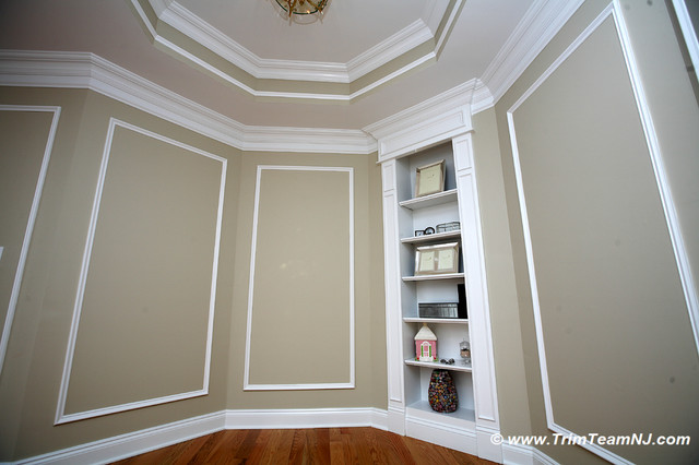 wainscot and picture frames traditional hall by trim team nj