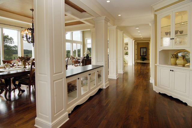 Walnut Floors traditional-hall