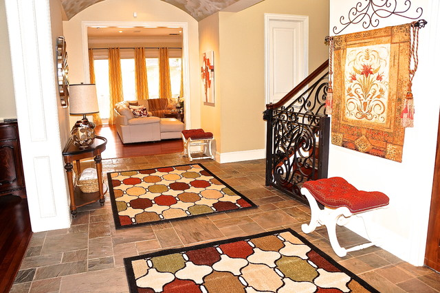 Warm Colors For 3 Rooms traditional-hall