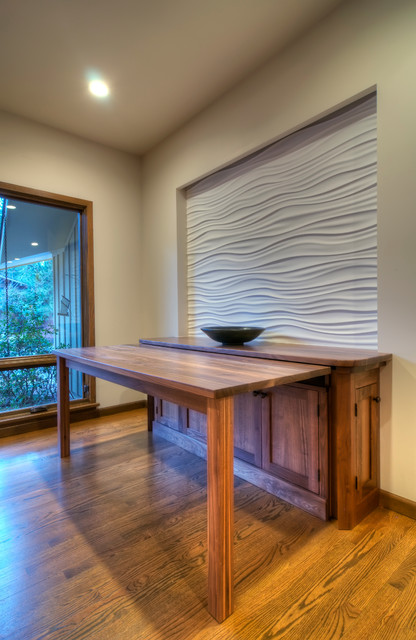 Wave Wall Pull Out Dining Table Asian Hall Seattle