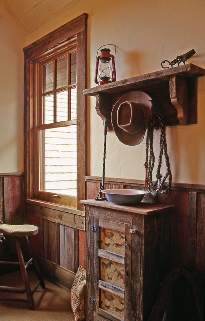 Western Homestead Ranch Bunk House room - Rustic - Hall ... on ranch duplex designs, ranch house designs, ranch pool designs, ranch kitchen designs, ranch bungalow designs, ranch office designs,
