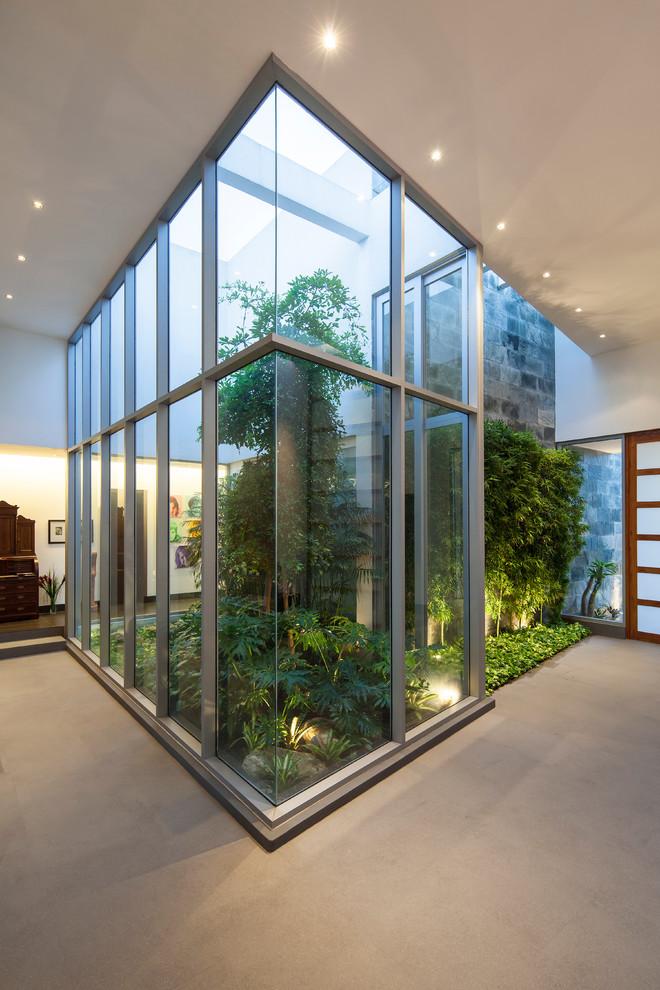 Hallway - modern hallway idea in Other
