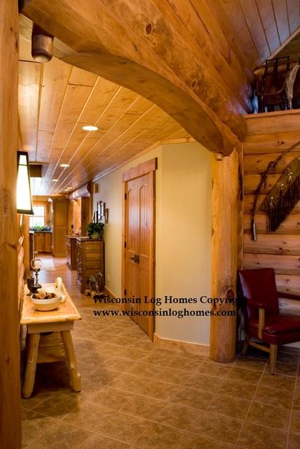 Wisconsin Log Homes Inc. traditional-hall
