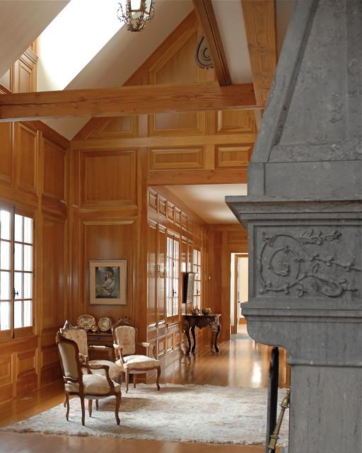 Traditional Foyer Uk : Wood panelled foyer traditional hallway landing