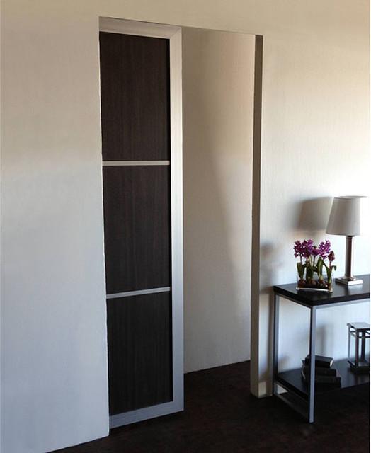 Woodgrains pocket doors modern hall los angeles - Modern interior doors los angeles ...