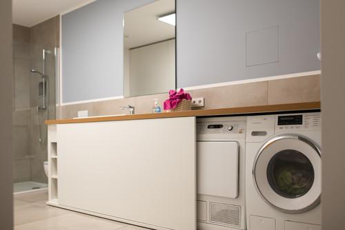 Wie kann ich die Waschmaschine verstecken?