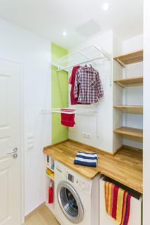 waschmaschinenabdeckung mit h ngeregalen elfa modern hauswirtschaftsraum berlin von. Black Bedroom Furniture Sets. Home Design Ideas