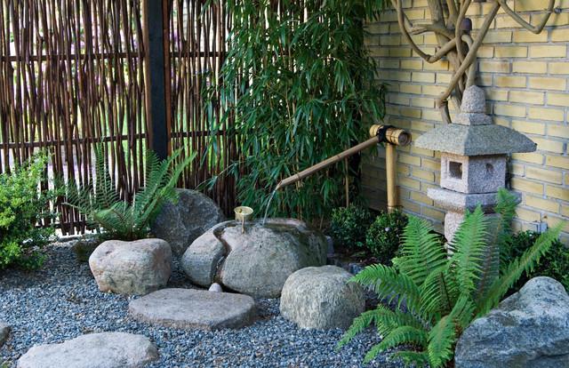 Japansk haveanlæg   velkomstarrangement, kaldet tzukubai   asian ...