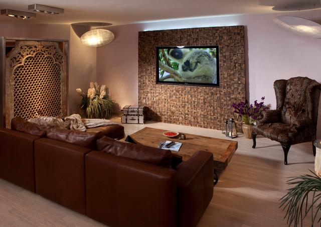 Wohnzimmer einrichten: Tipps & Ideen - Mediterran - Heimkino ...