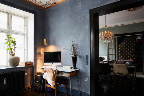 eclectic home office interiors