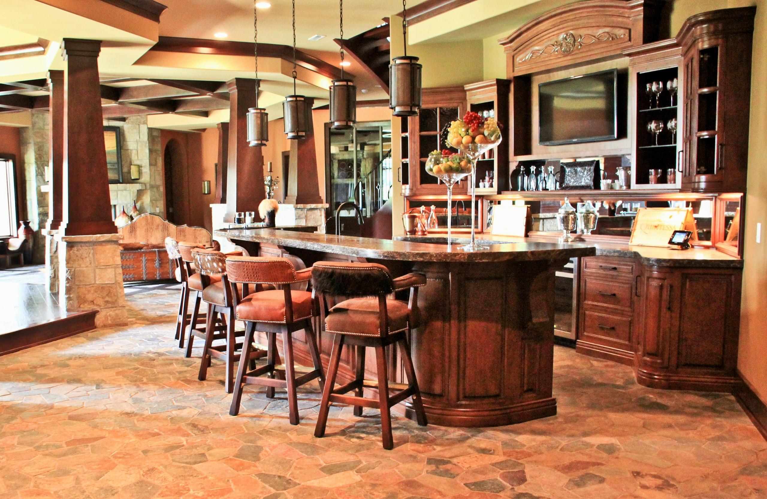 2012 Indianapolis Dream Home basement bar