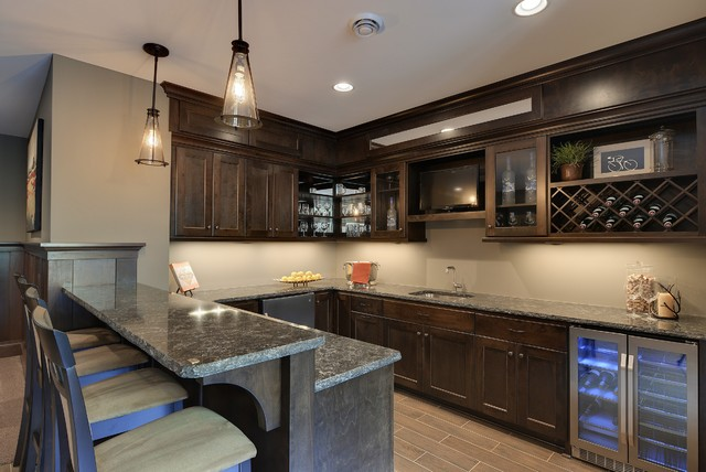 2013 luxury home inver grove heights traditional home bar minneapolis by highmark builders - Luxury home bar designs ...