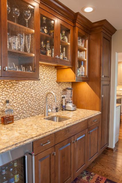 2016 Tinley Park Kitchen Beverage Center Transitional Home Bar Chicago By Philbin